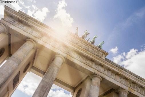 Ausbildung in Berlin - Arbeiten am Brandenburger Tor