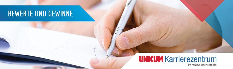 Bewerte das UNICUM Karrierezentrum und gewinne!