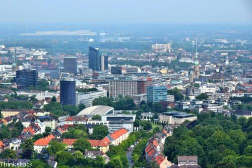 Praktikum in Dortmund - Blick auf die Stadt
