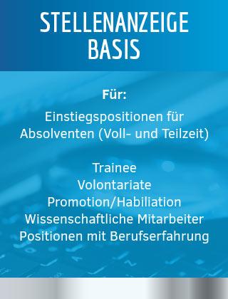 Stellenanzeige Basis für Absoventen / Young Professionals